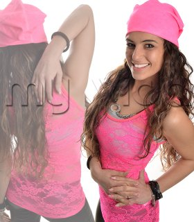 Cappelletto cappello donna cuffia fluo 62af1bac4d4c