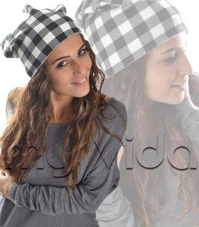 Cappello donna cuffia cappelletto quadri scozzese 465f278ec7d6