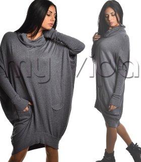 668f4ef2d940 Blusa maglione oversize maxi pullover collo alto