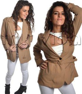 Giacca tailleur donna cinta e tasche b308228fb63