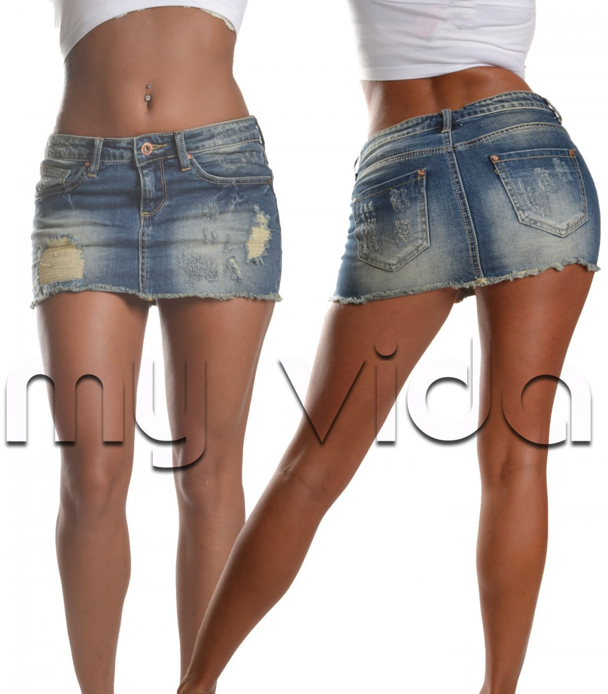 sports shoes 03304 04935 Skirt corta donna mini gonna jeans strappati | My Vida