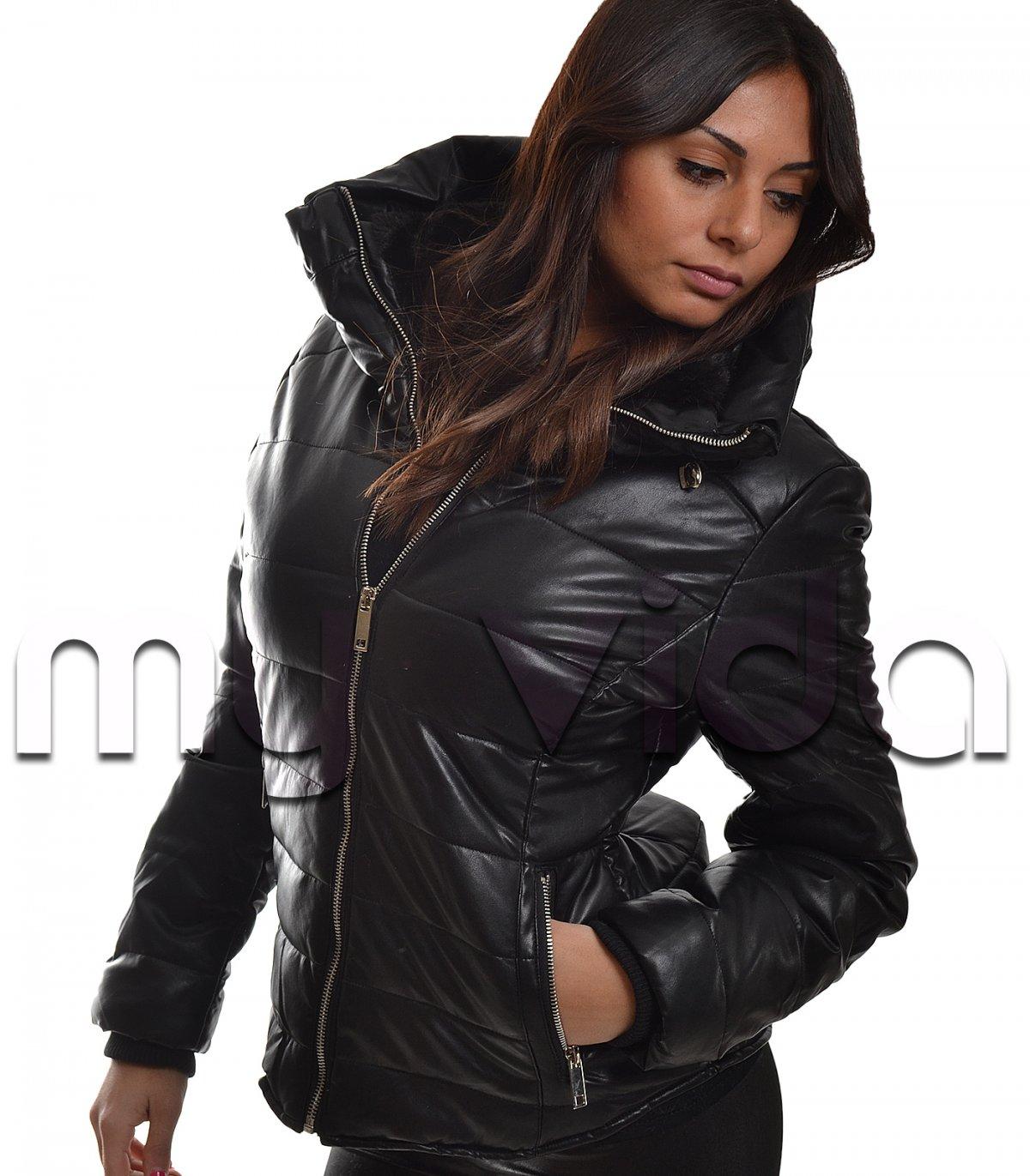 Bomberino nero donna giacca imbottita sport | My Vida