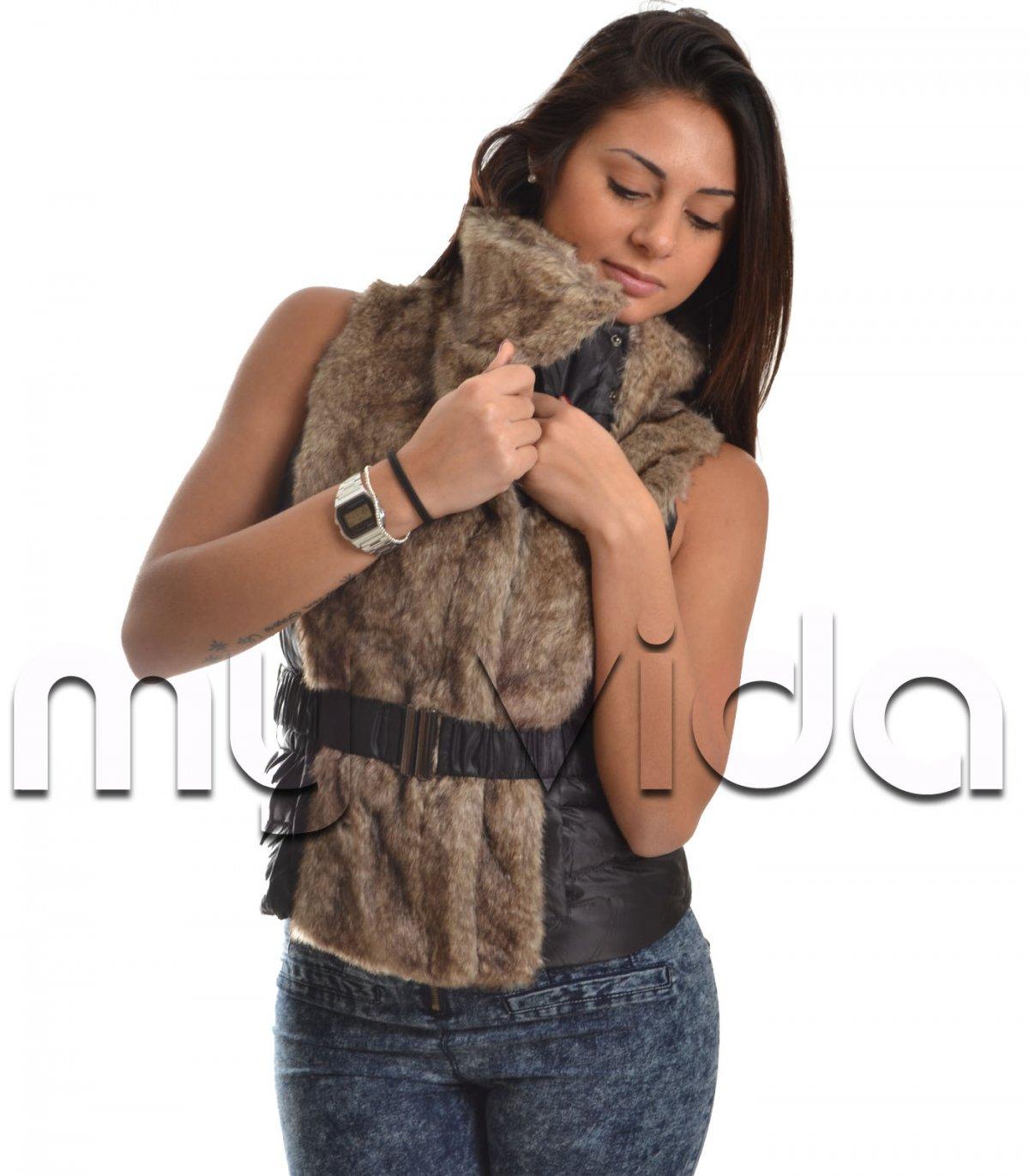 online retailer 86b98 49cbb Smanicato con pelliccia donna piumino leggero   My Vida