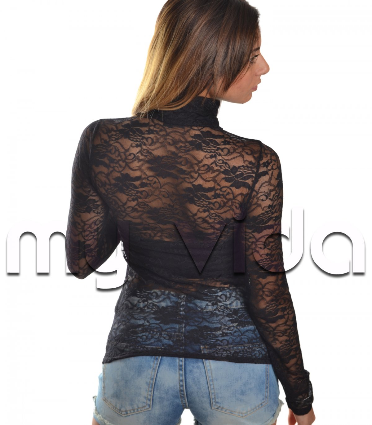 103ee556d5 Maglie sottogiacca donna pizzo dolcevita | My Vida