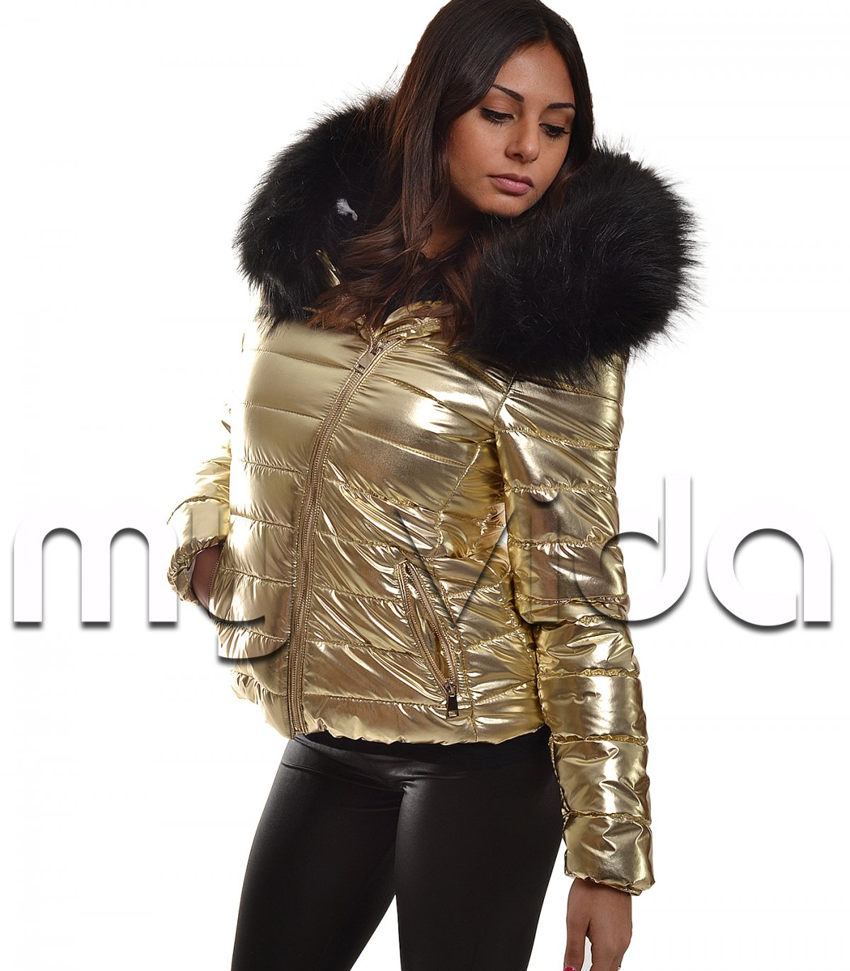 Giacchetto piumino donna cappuccio zip | My Vida