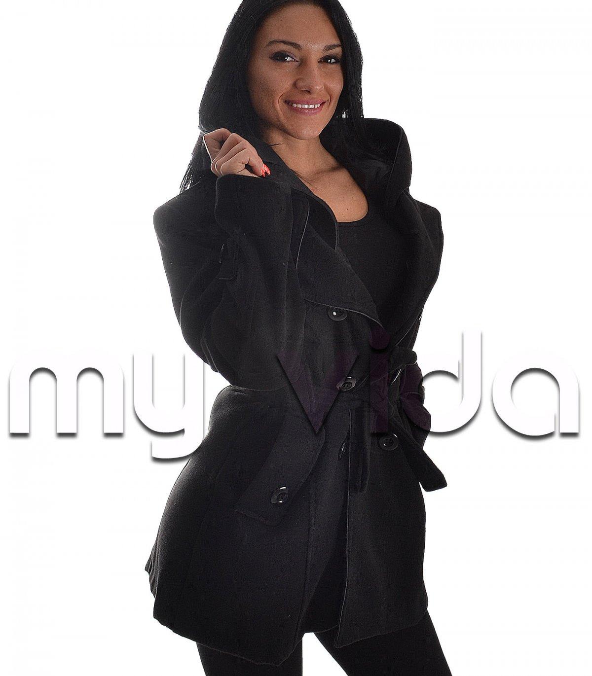 info for 969a4 e7e44 Cappotto donna trench di lana nero taglie grandi | My Vida