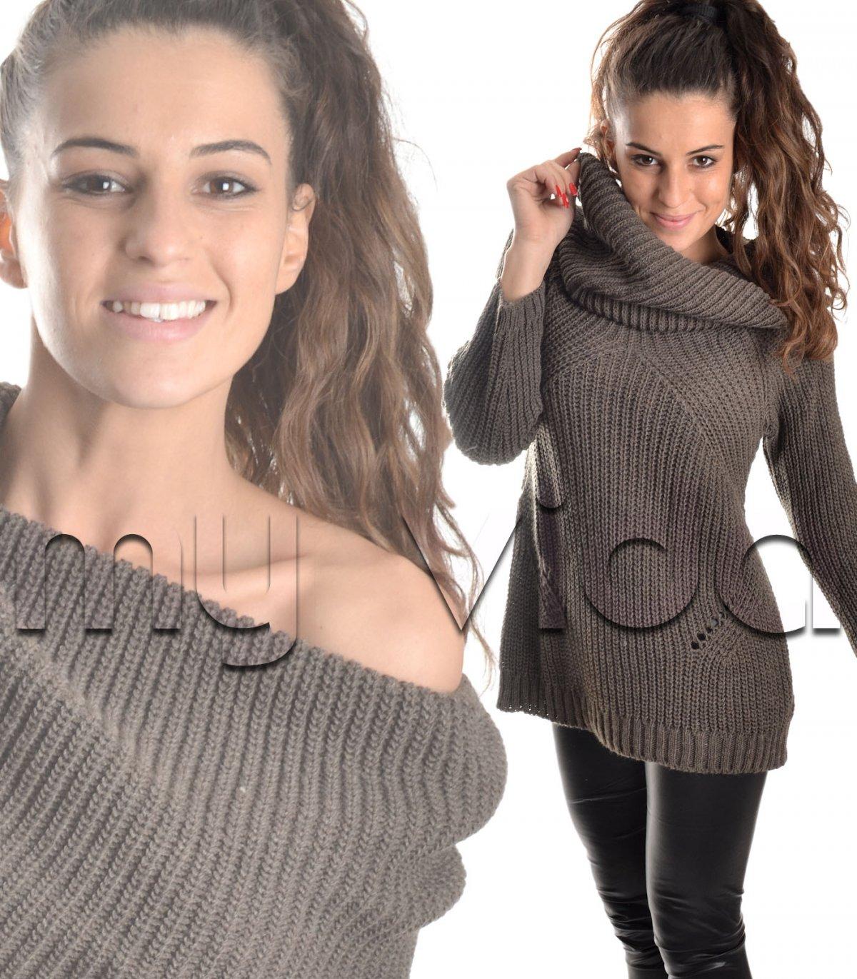 ampia scelta di colori e disegni sito autorizzato vendite all'ingrosso Maglione collo alto maglia inglese | My Vida