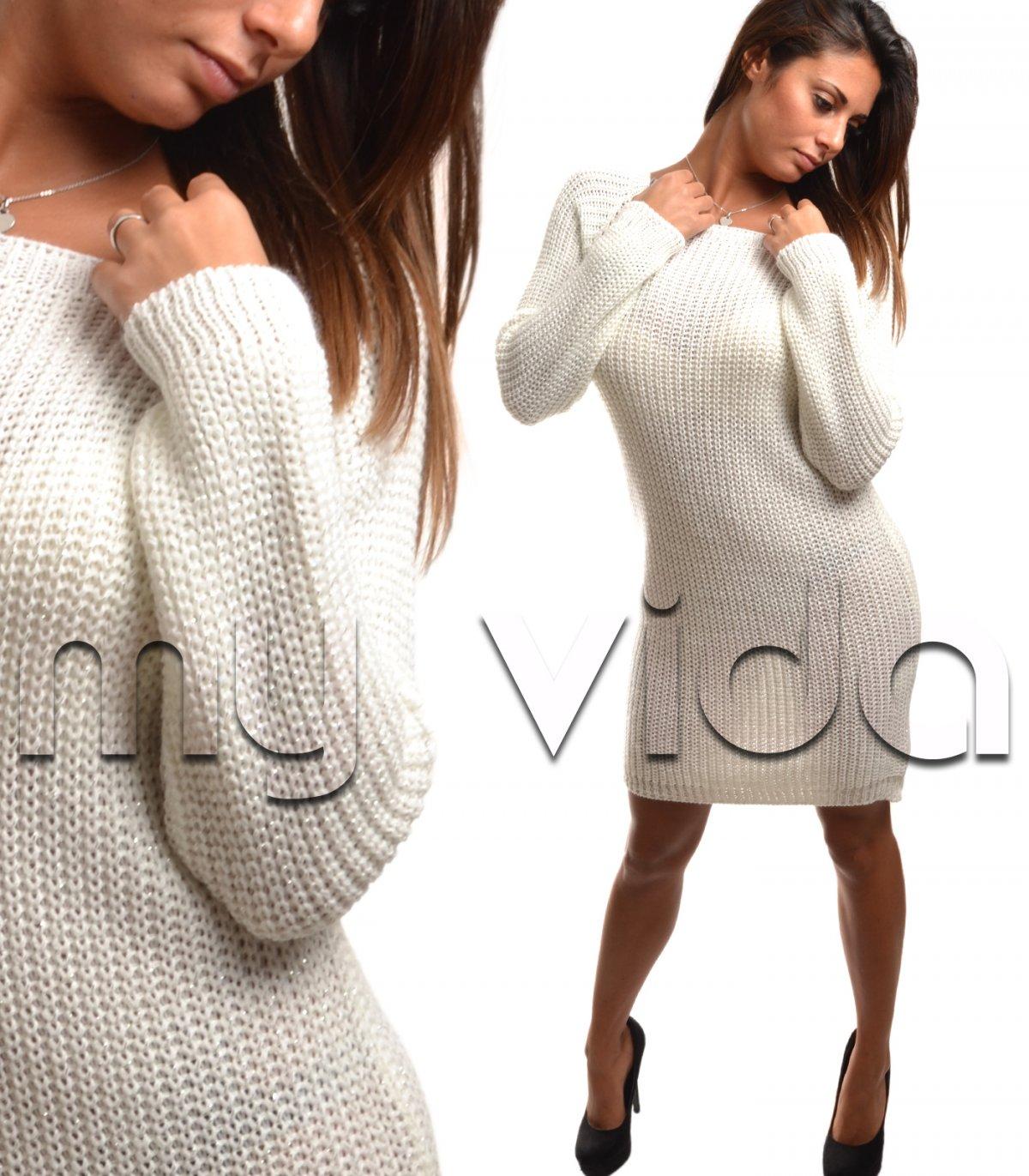 economico per lo sconto 2513d e857e Vestito corto in misto lana manica lunga | My Vida