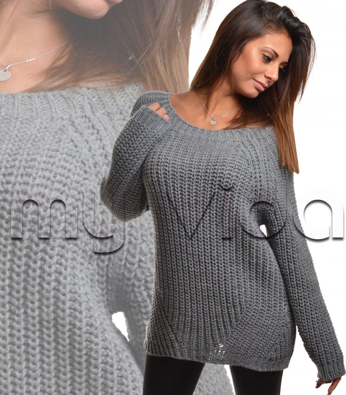 new product 5dc84 60b38 Maxi pullover lana donna maglione lungo | My Vida