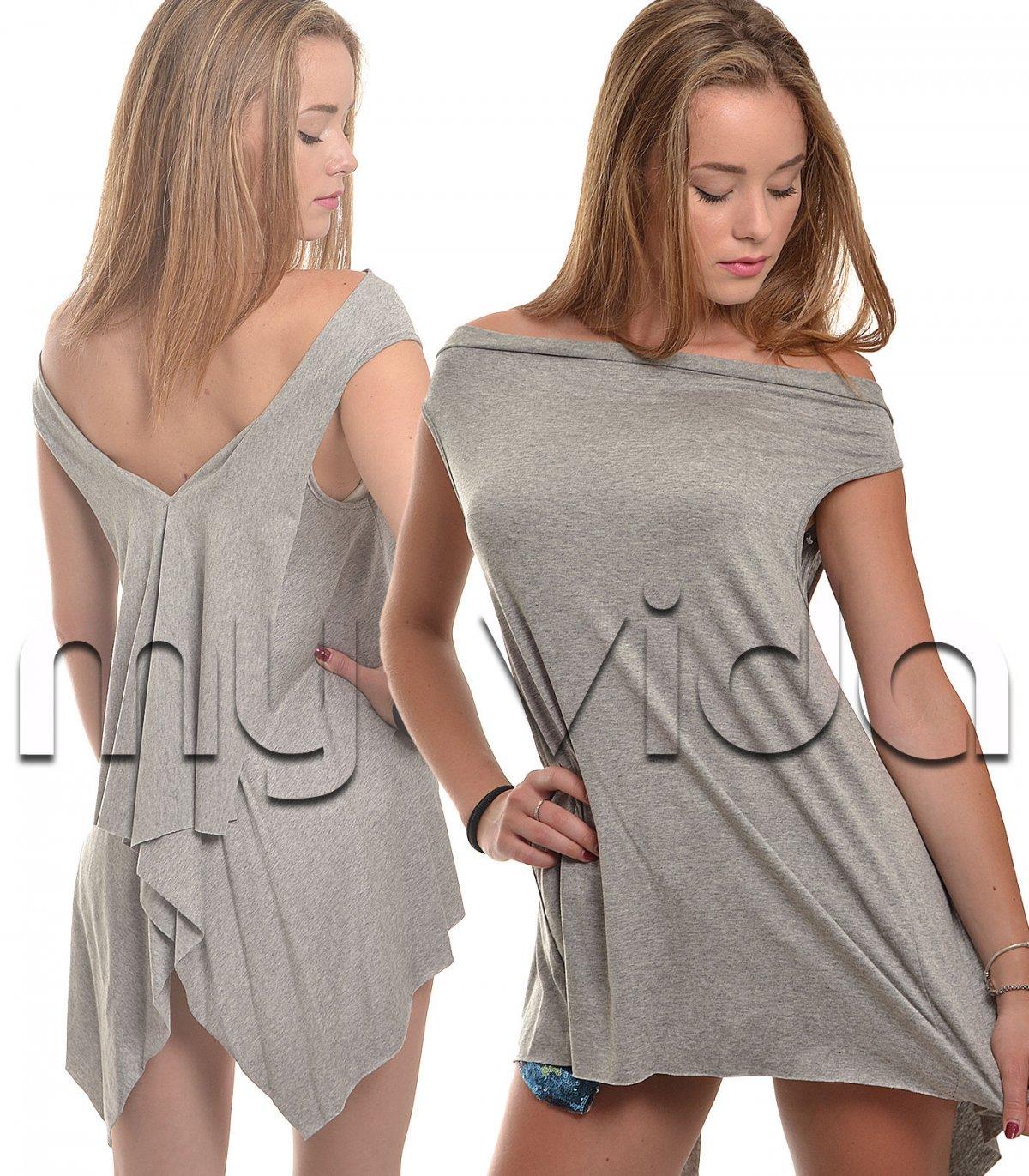 wholesale dealer a81fd 0f2a0 T-shirt canotta donna asimmetrica lunga dietro | My Vida