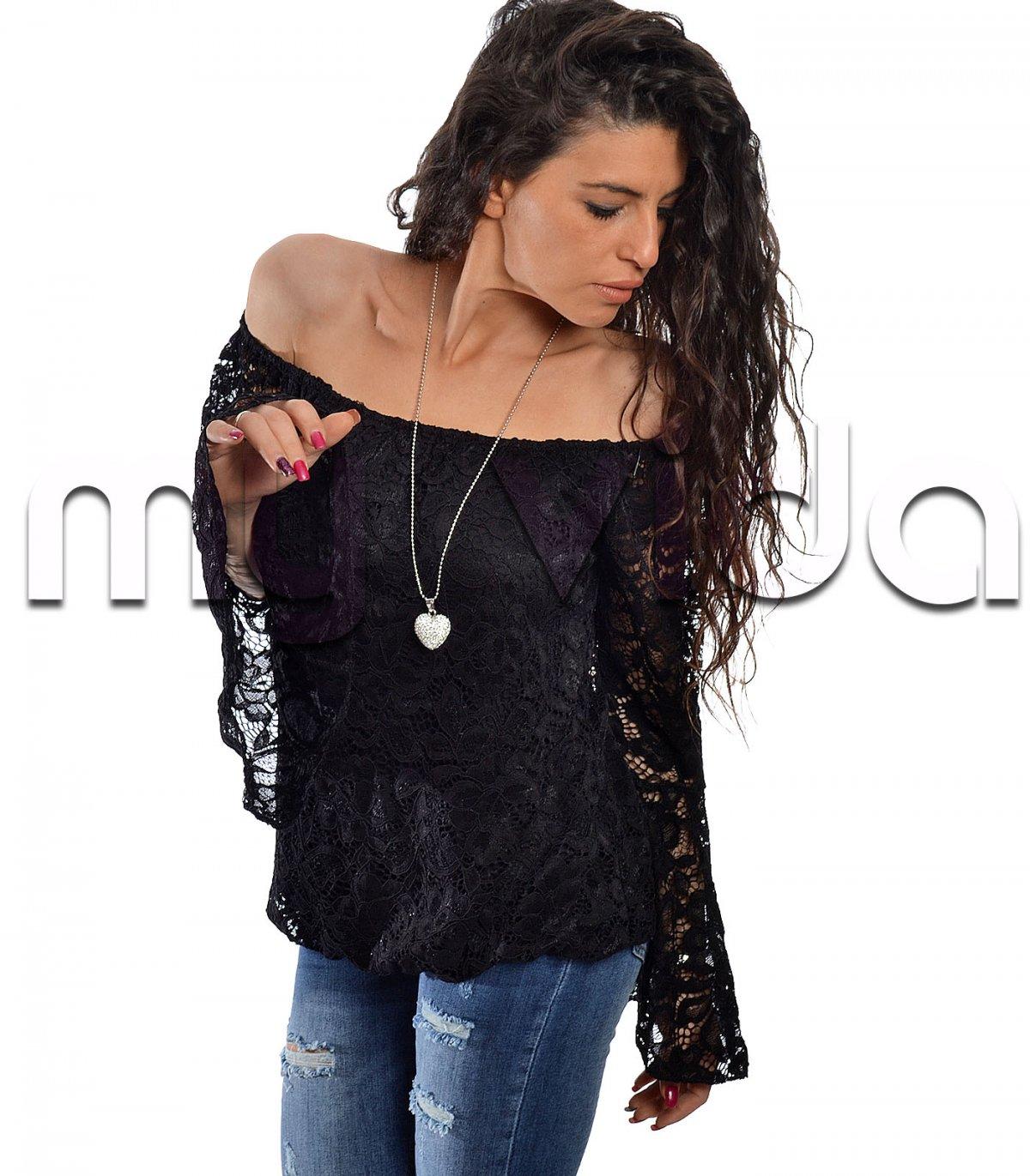 uk availability 4a780 d26d2 Maglia pizzo maniche svasate | My Vida