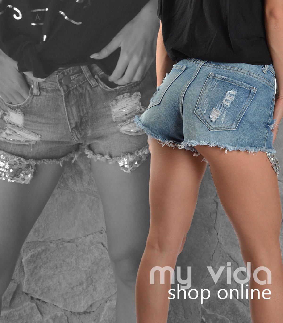 Pantaloncini corti donna jeans  My Vida