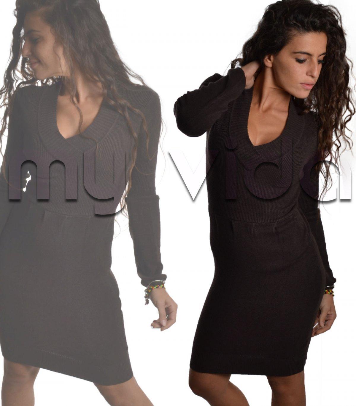 reputable site 9e774 a64da Mini dress ampio scollo a V | My Vida