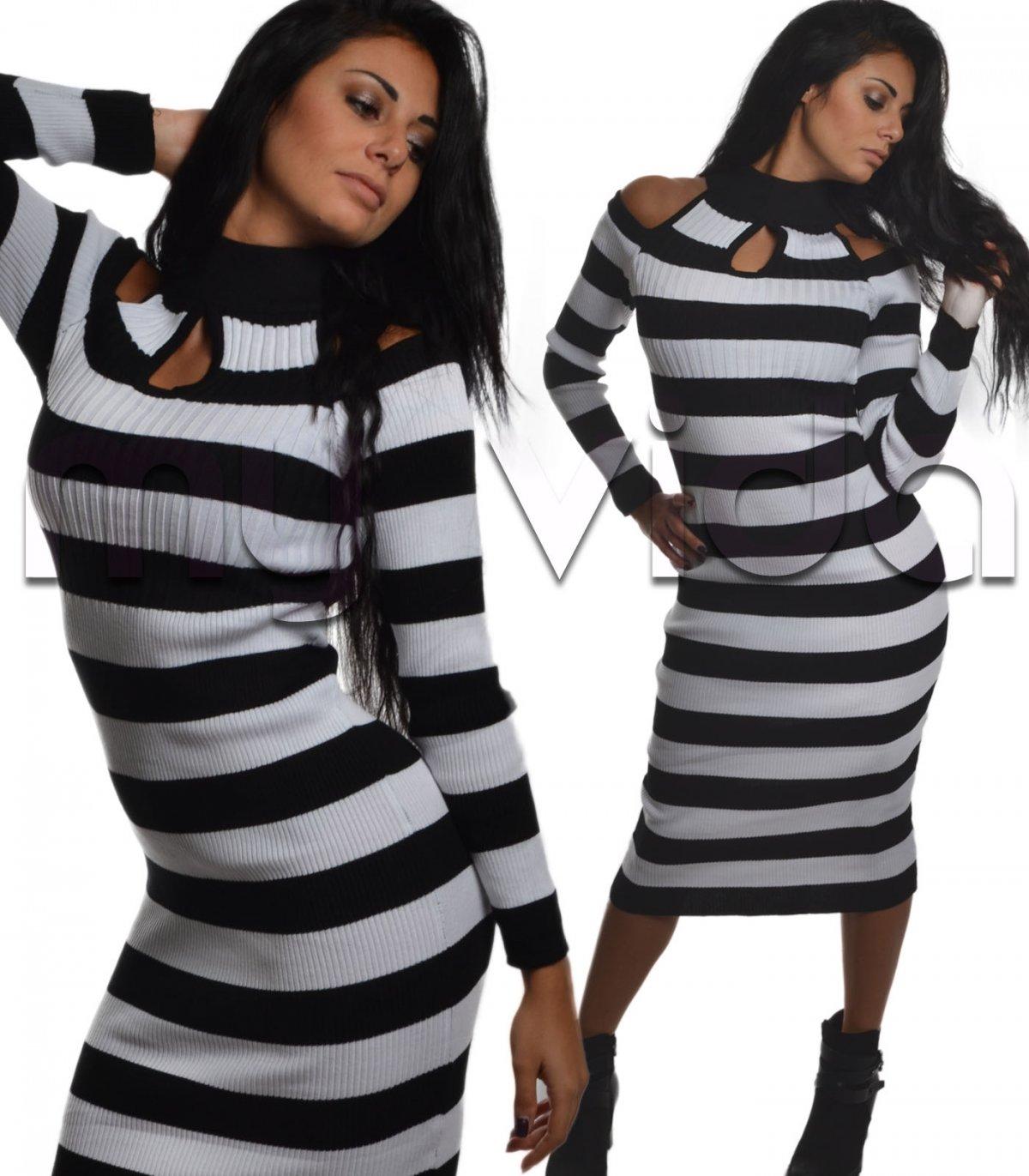 huge discount 416d0 c400b Vestito invernale spalla nuda scollo lupetto | My Vida