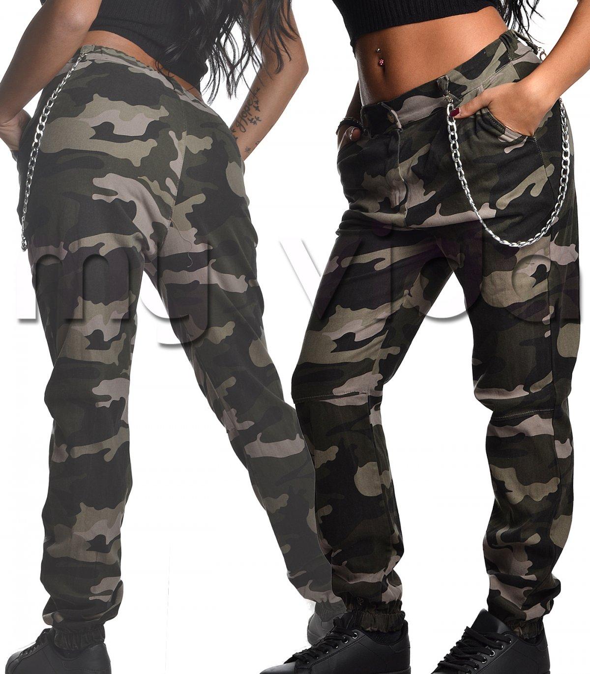 ef70dcab0c Pantalone donna camouflage elastico caviglia | My Vida