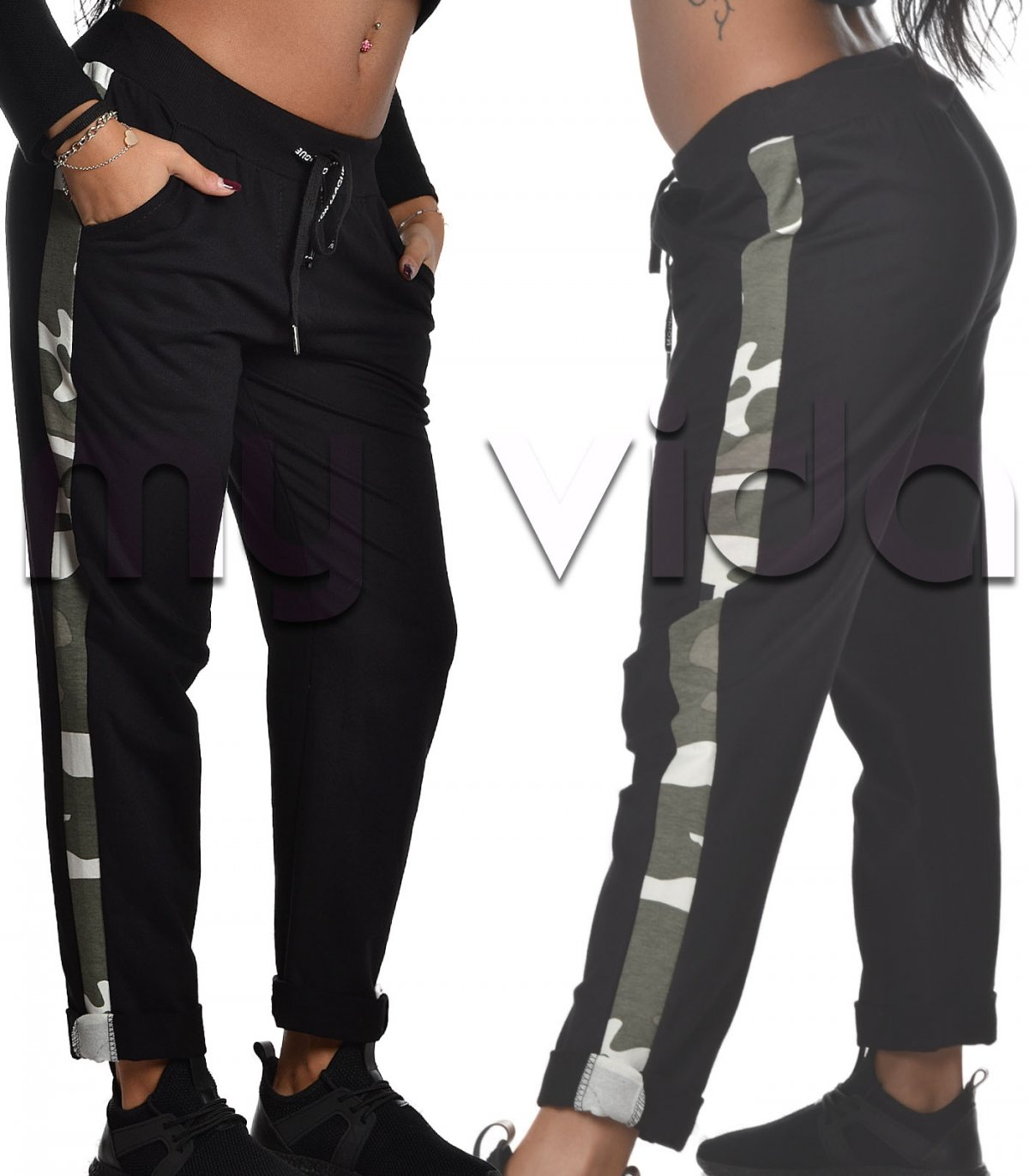 81c843fef0 Pantalone tuta con laccio lettering | My Vida