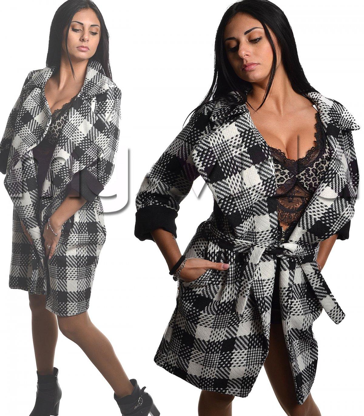 Giacca cappotto donna reverse cintura vita  6bf8392ab54