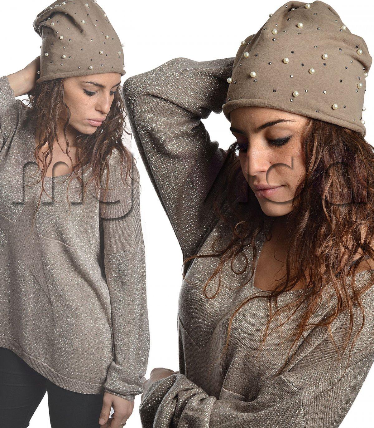 Cappello felpato strass donna | My Vida