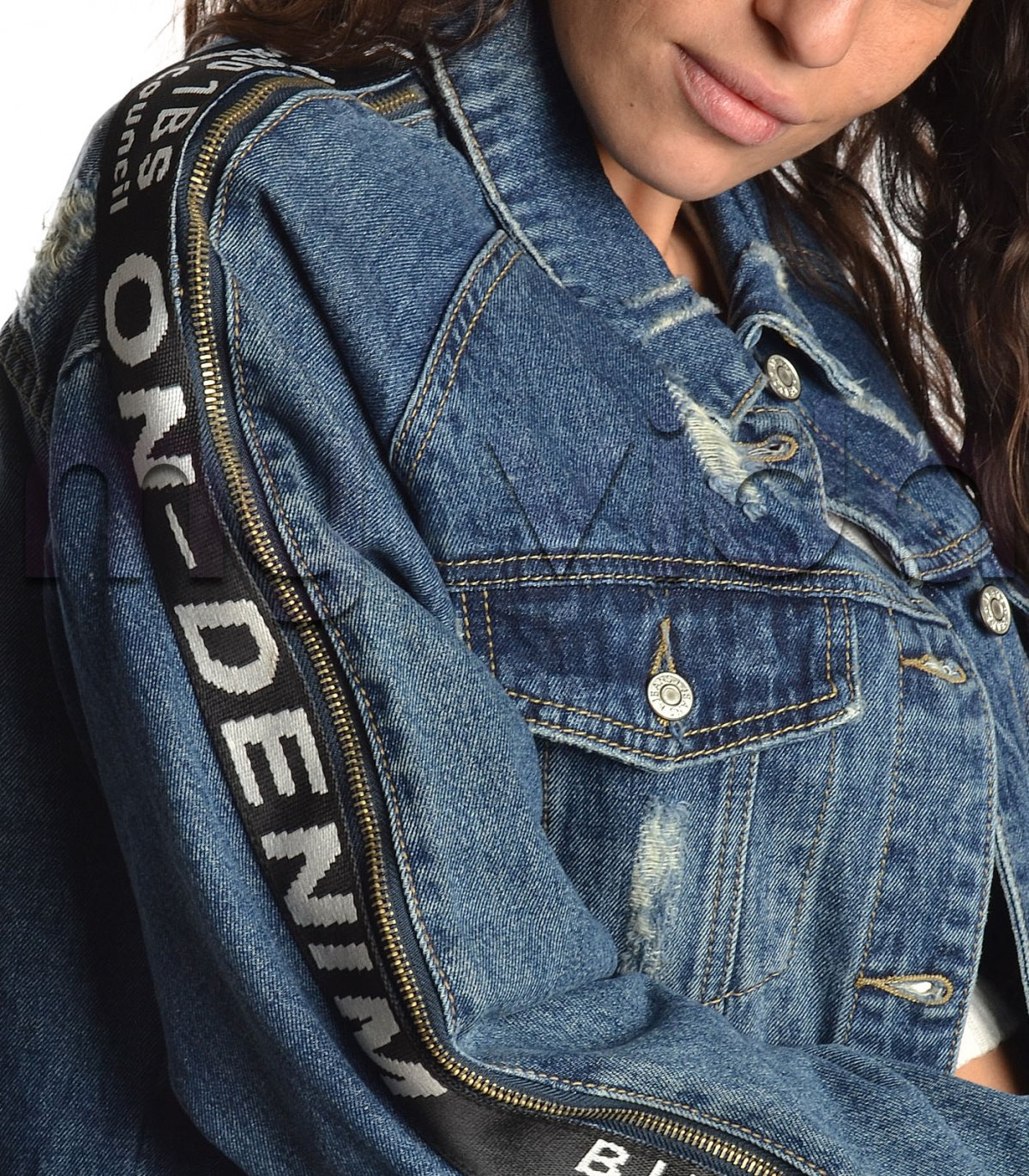 eb19079881 Giacchetto Jeans Denim ScritteMy Jeans ScritteMy Giacchetto Vida Denim  DHI2E9