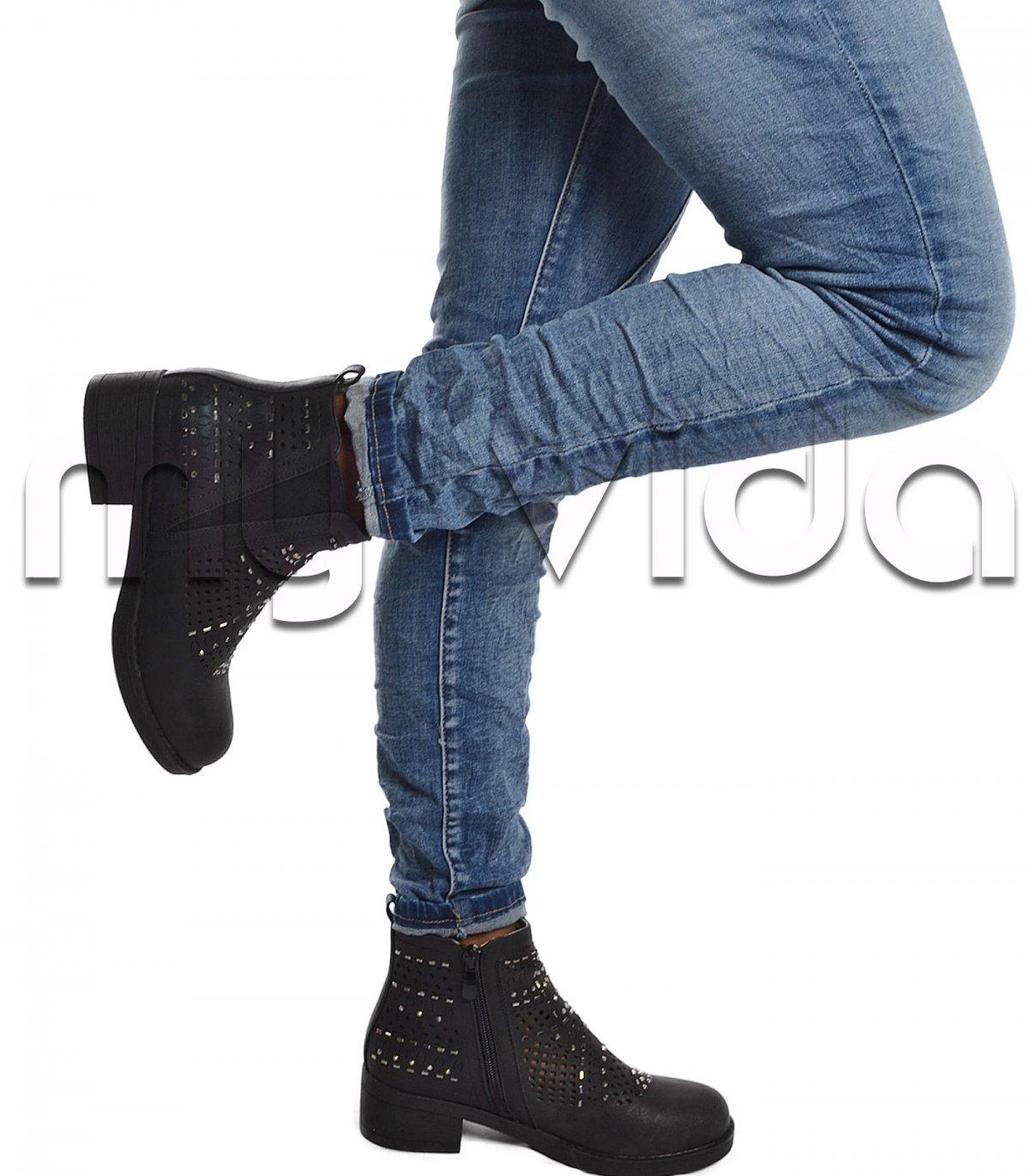 scarpe originali grandi affari grandi affari Stivaletto donna basso caviglia traforato strass | My Vida
