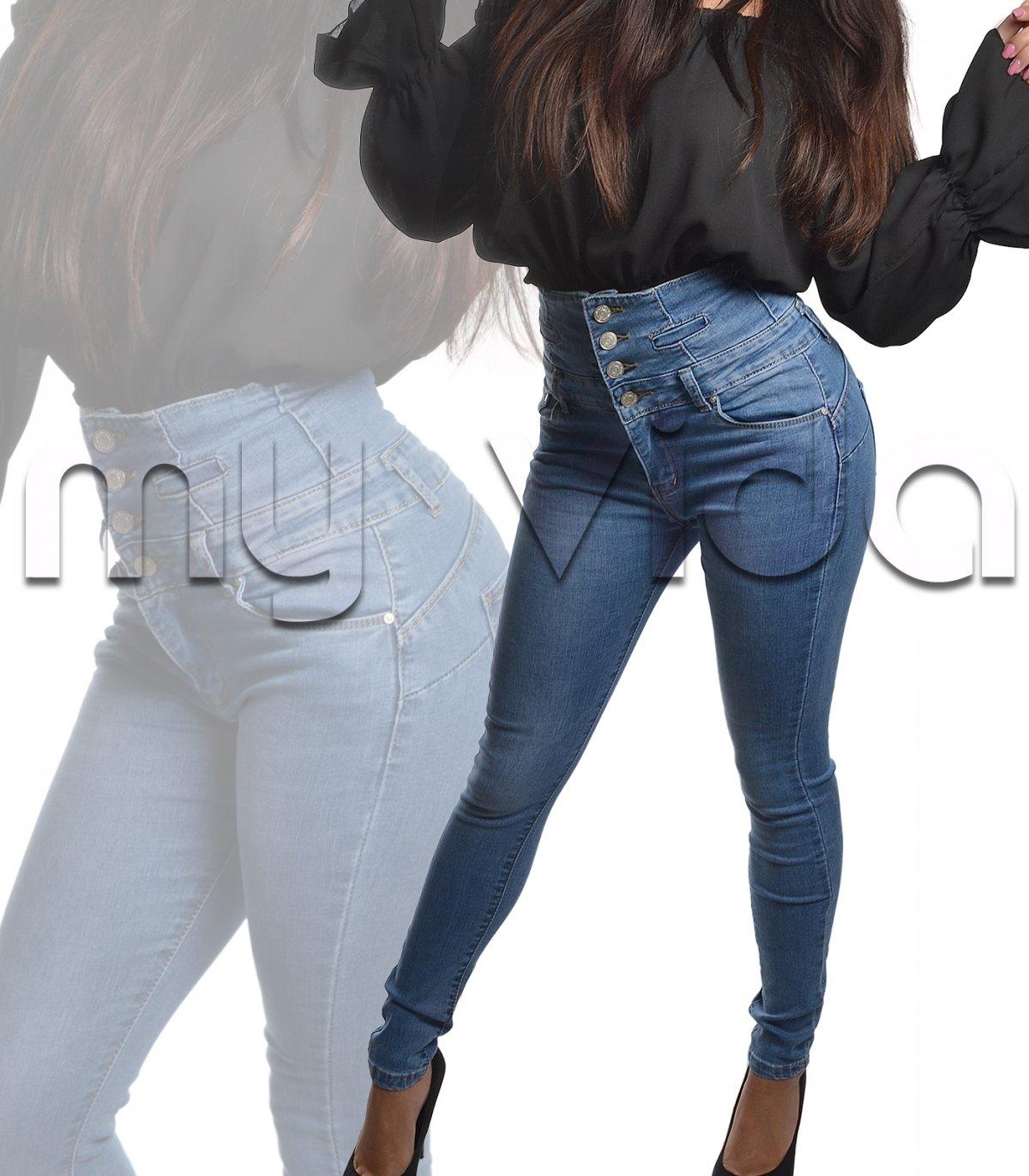 40a62ac3dc Jeans donna cinque tasche vita alta   My Vida