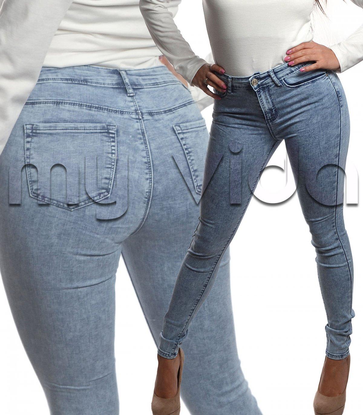 Jeans donna sfumato cotone elasticizzato skinny   My Vida