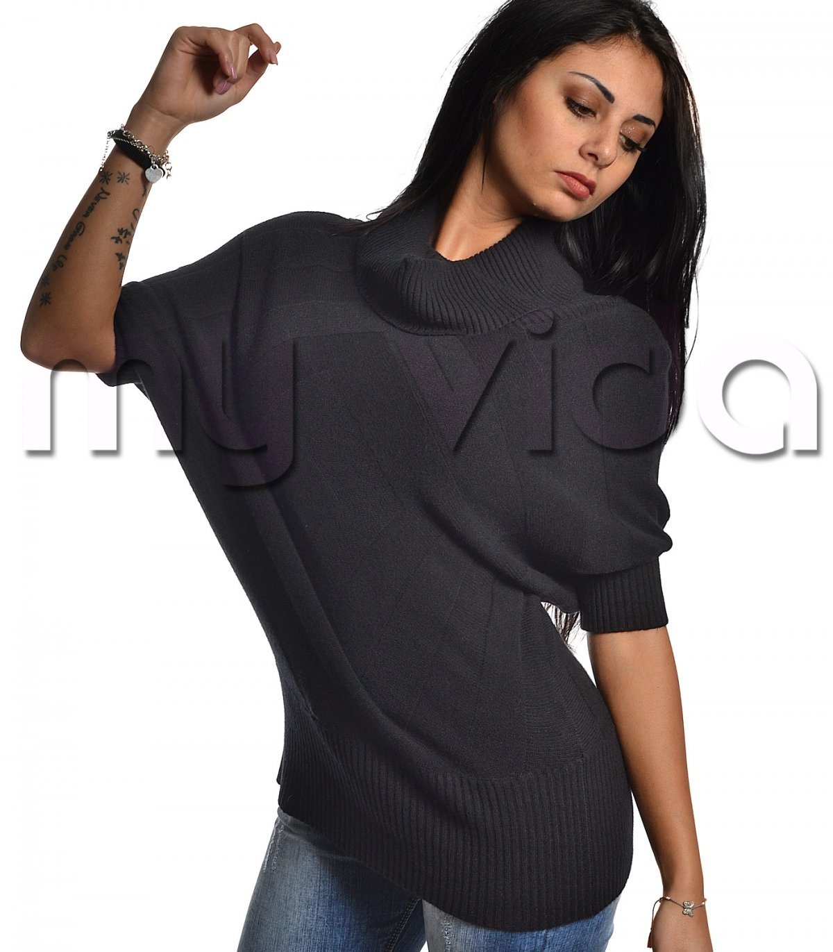 finest selection 0bb5c 54c06 Pullover maglione donna collo alto misto cashmere | My Vida