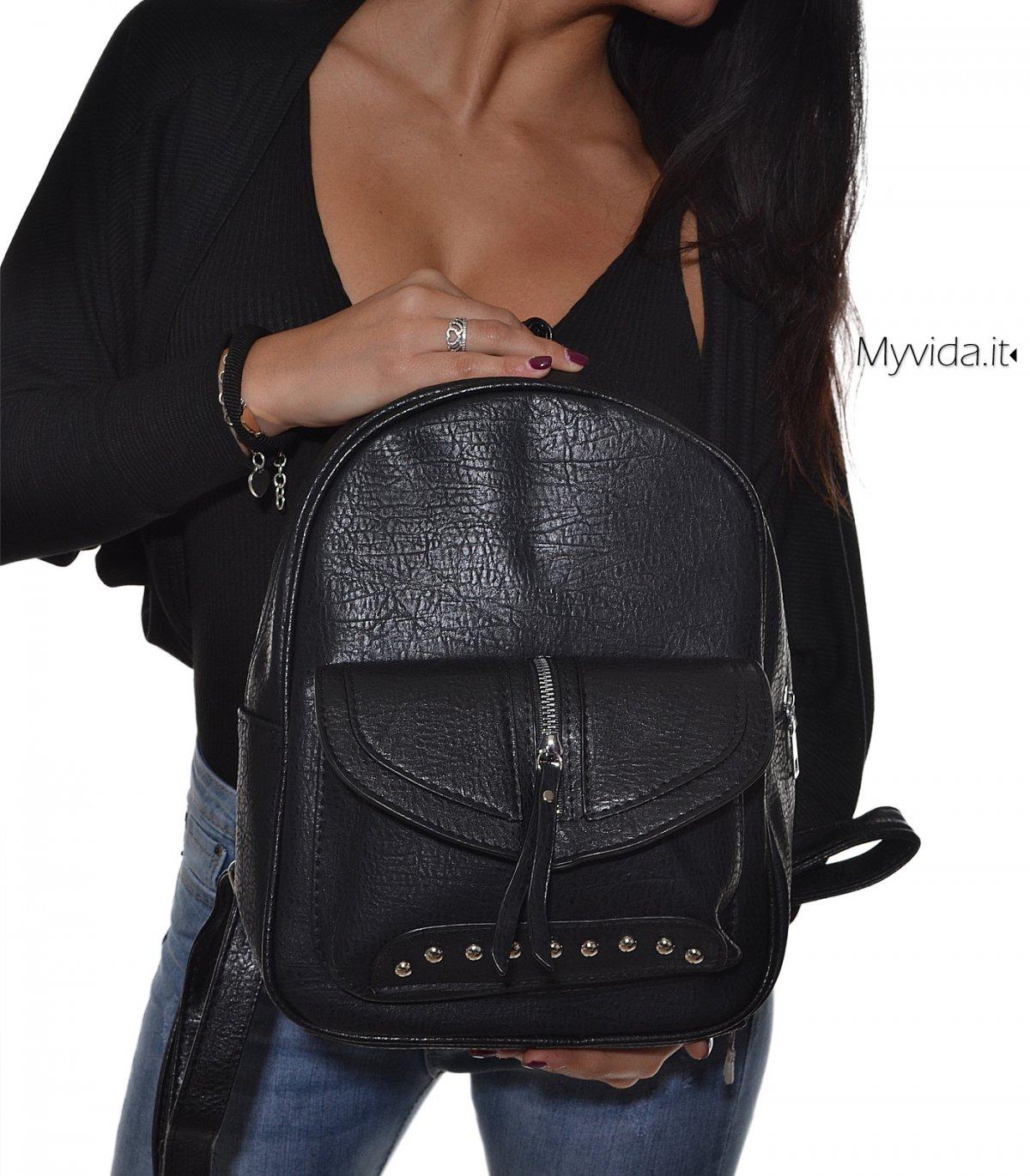 selezione premium cc9e1 184a8 Borsa zaino donna borchie | My Vida