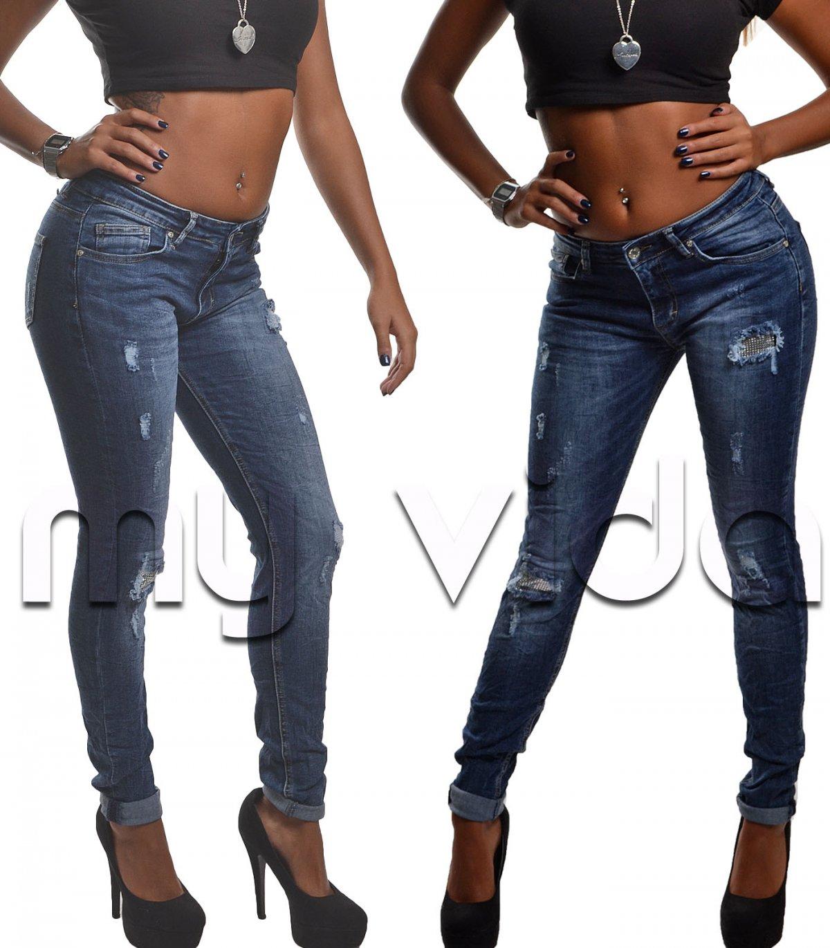 Jeans donna elasticizzati strappi patch   My Vida