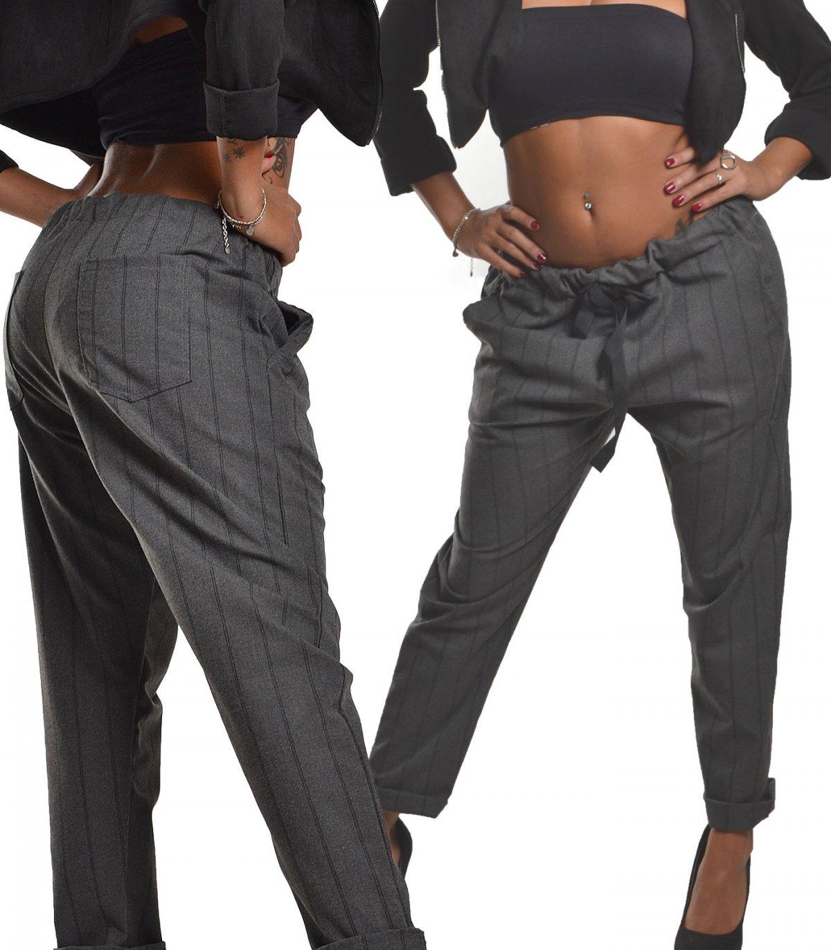899c23d284 Pantalone donna gessato elastico pence | My Vida