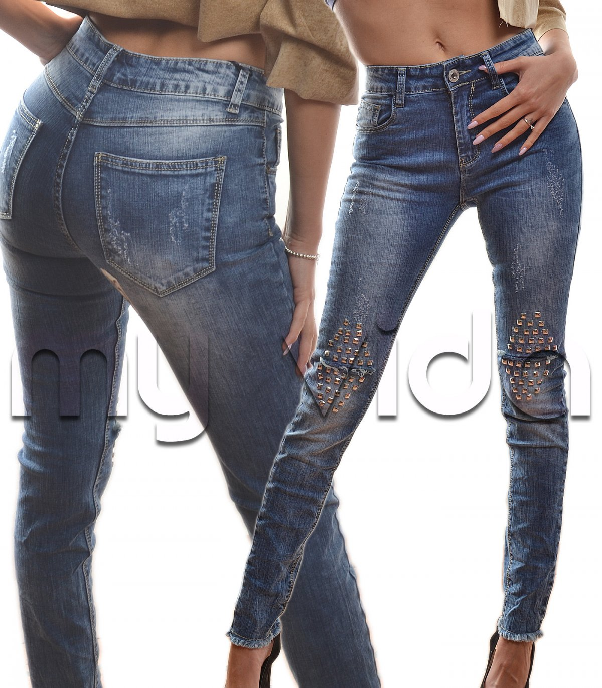 My Cinque Vida Slim Donna Skinny Tasche Fit Jeans zgqaY