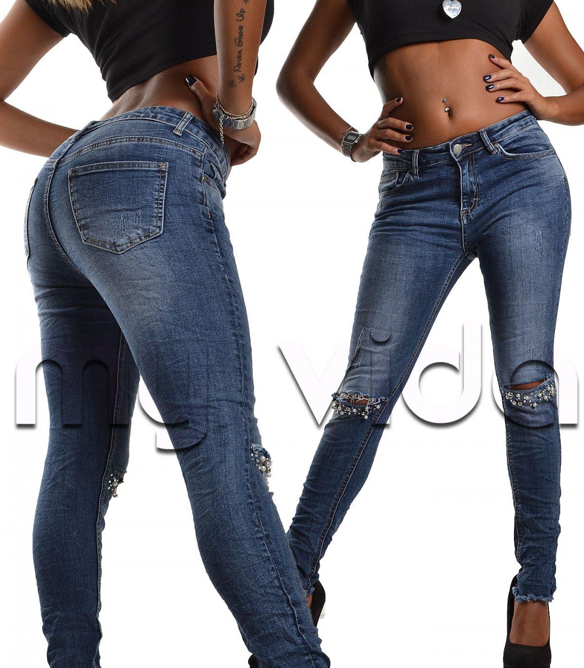 Jeans donna elasticizzati stone washed   My Vida