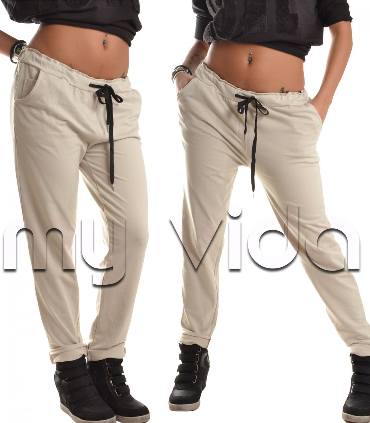 5be8fc81e1 Pants casual donna tuta slim palestra | My Vida