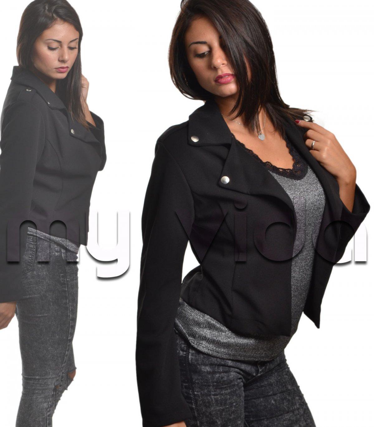 new concept 655df 74e29 Giacchetta corta donna con revers | My Vida