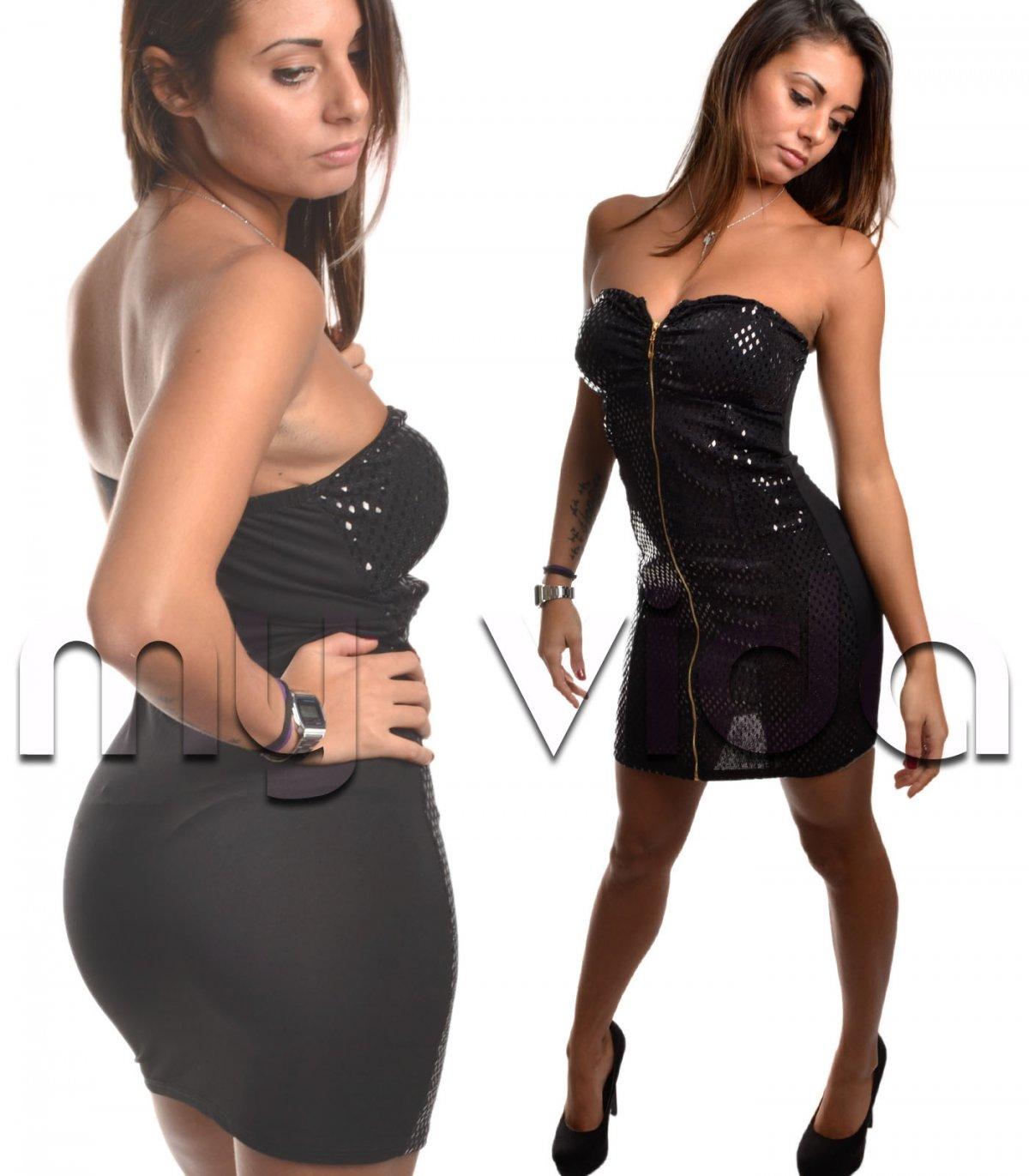 huge discount 886b9 f7dba Sexy mini abito donna nero | My Vida
