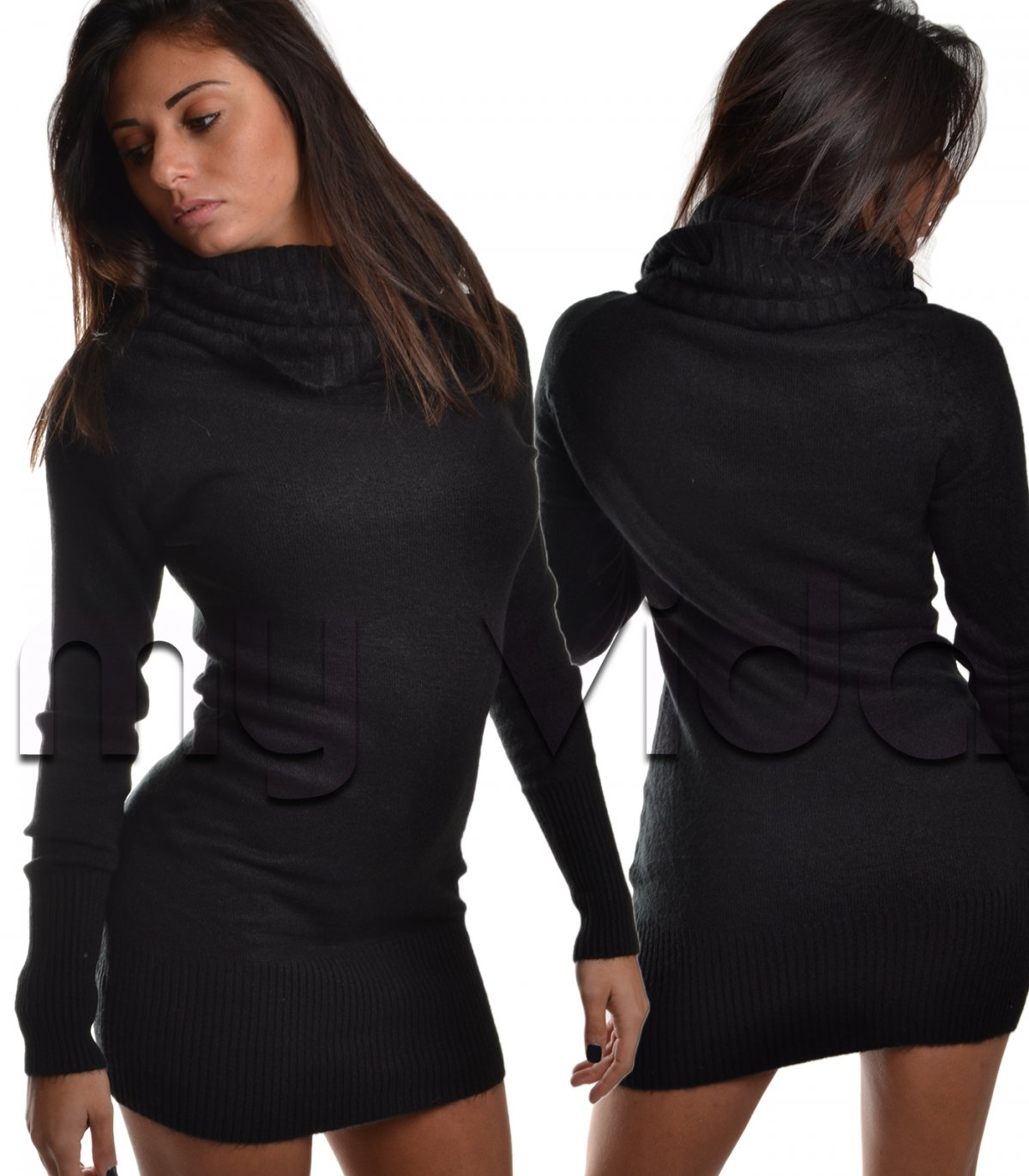 best service a1e61 89209 Collezione Pullover donna vestito collo alto lana | My Vida