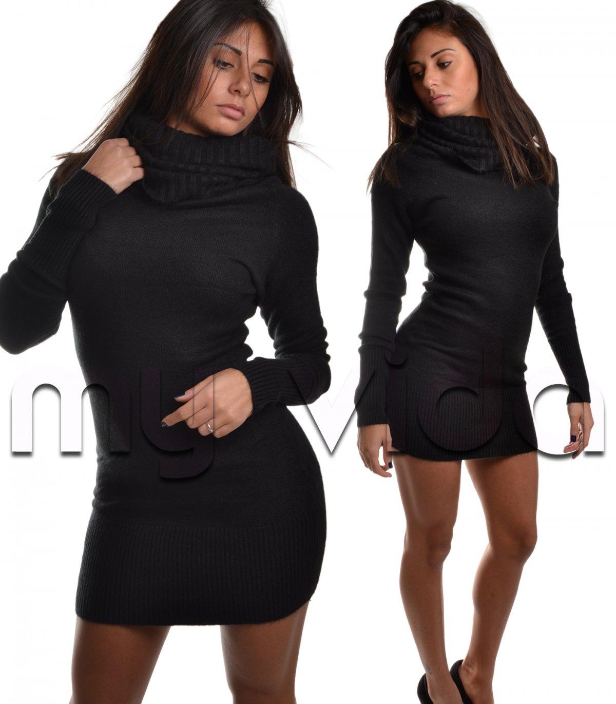 best service 57b8d d6d45 Collezione Pullover donna vestito collo alto lana | My Vida