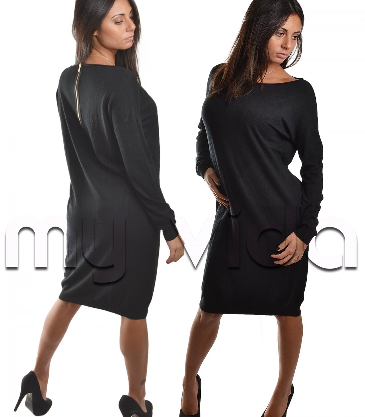 Woman's collection dress maglione donna girocollo casual