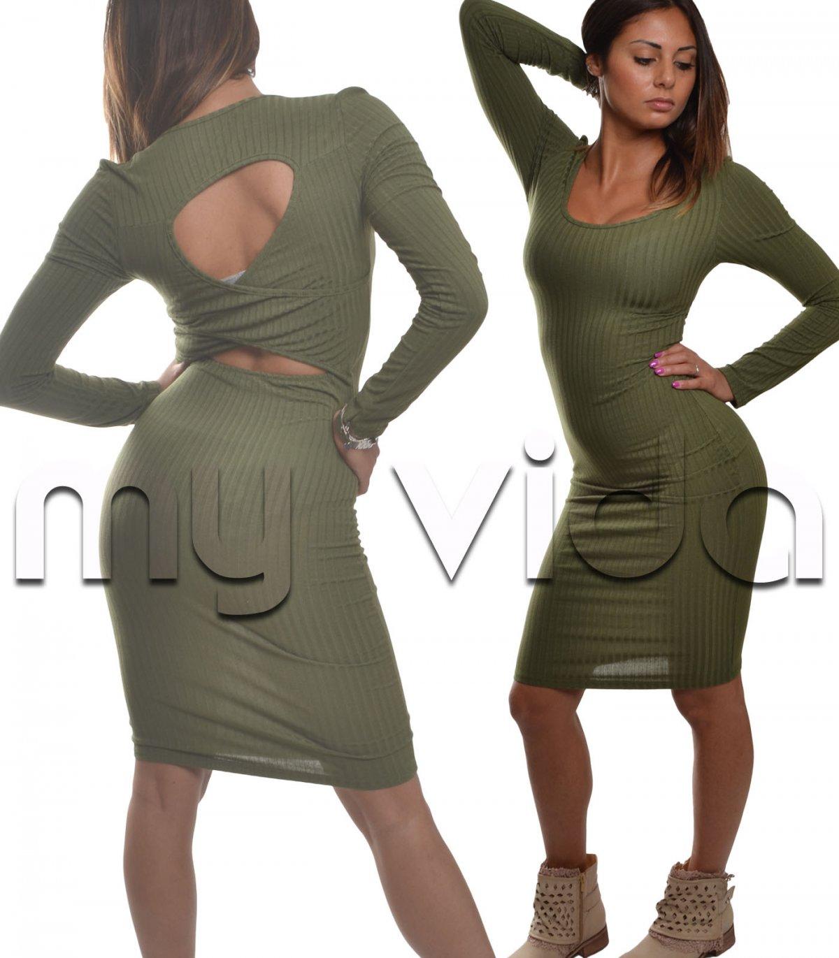 buy popular 7a139 2fdc8 Vestito lungo donna tubino costine estate   My Vida