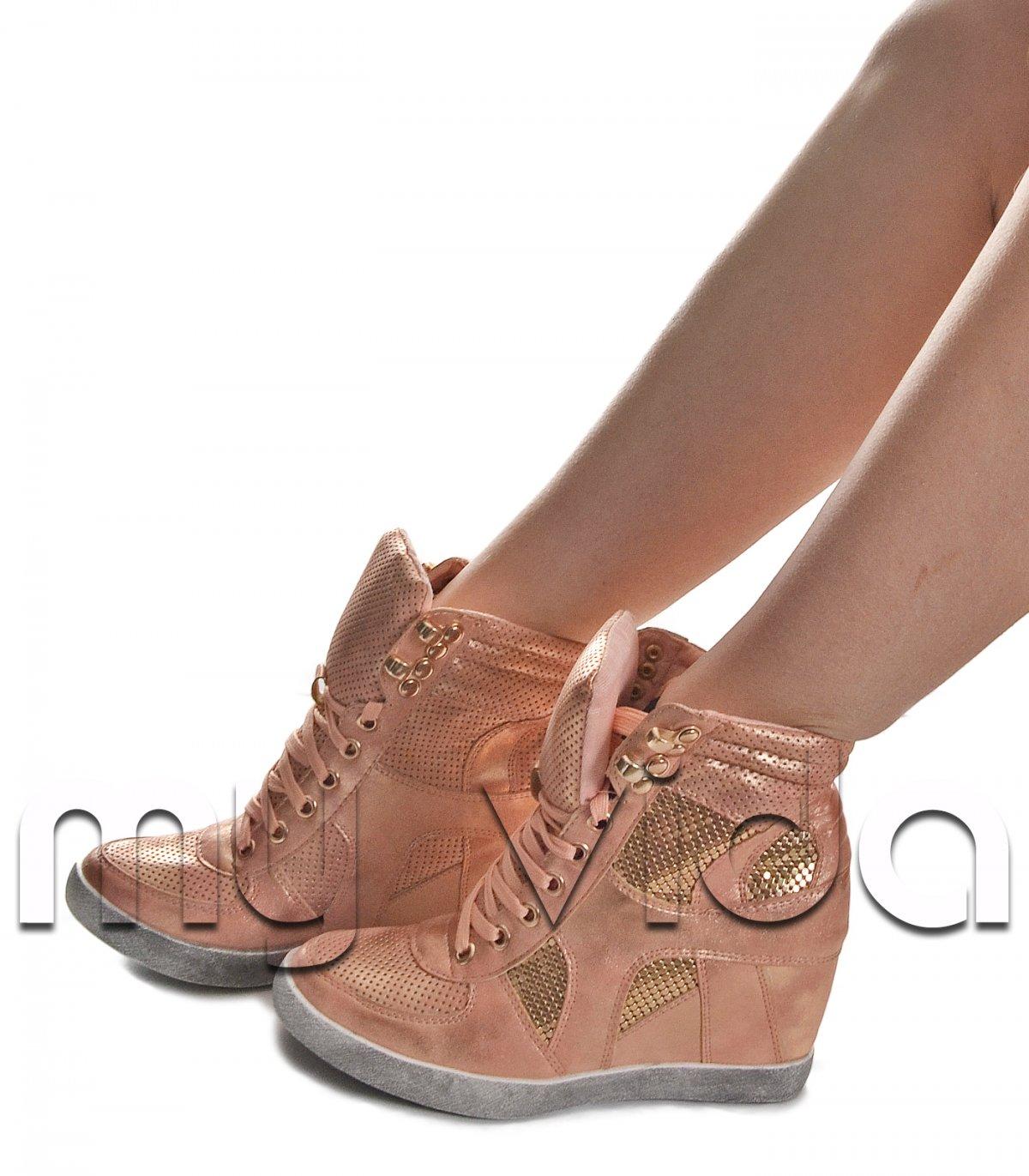 venduto in tutto il mondo bambino guarda bene le scarpe in vendita Sneakers alte con zeppa interna | My Vida