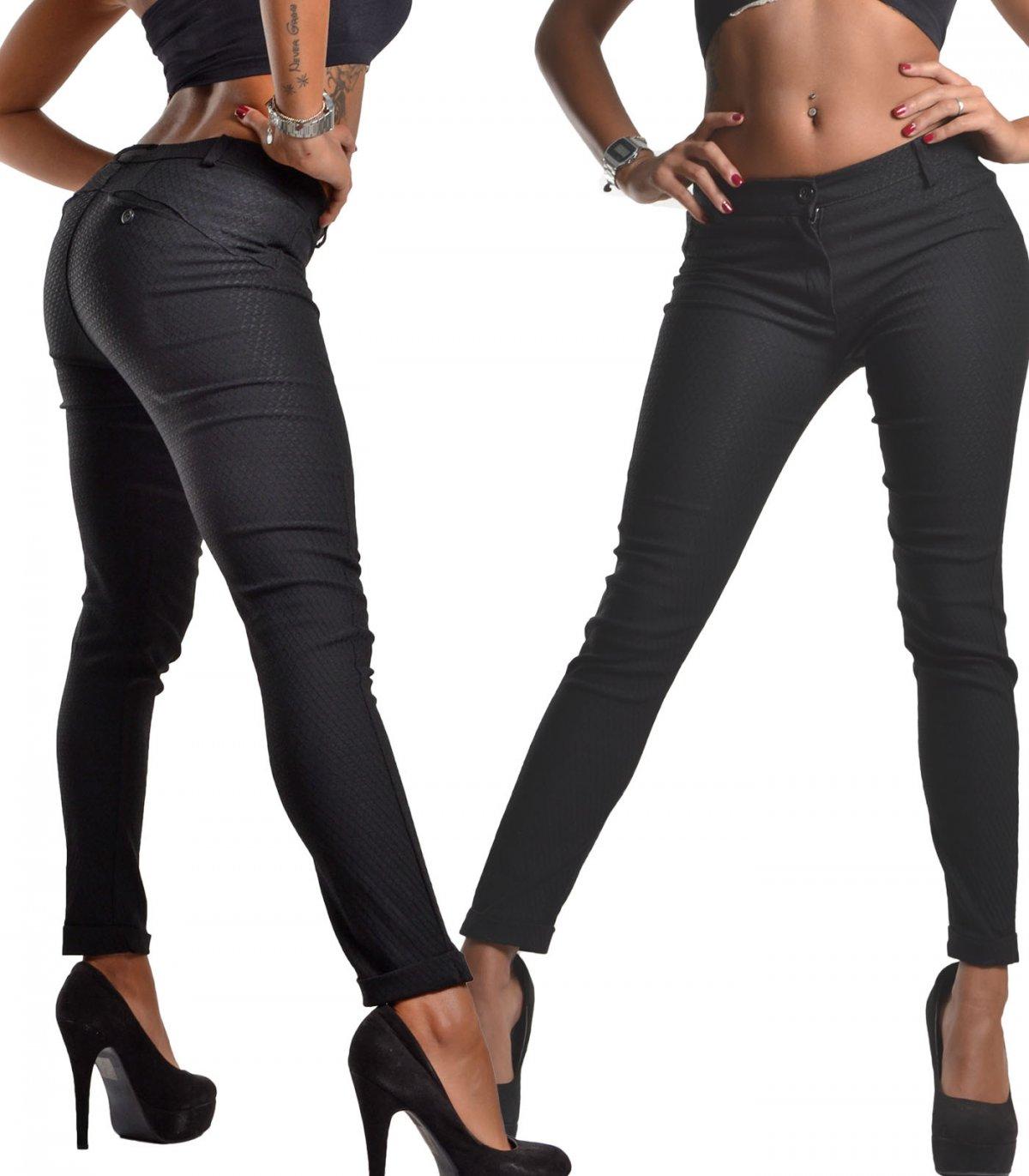 Da Donna con tasca elasticizzati stretch skinny a sigaretta pantaloni slim sigaretta